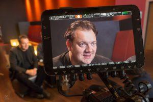 Interview-Drehs beim Dok-Film-Festival