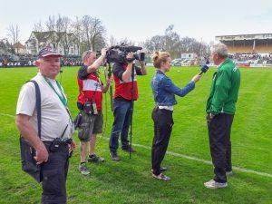 Live-Kameramann Fußball