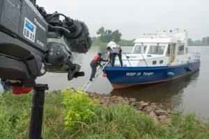 Drehtag mit der Wasserschutzpolizei