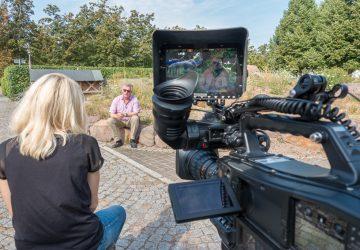 Dreharbeiten am Helmholtz-Zentrum für Umweltforschung – UFZ in Halle