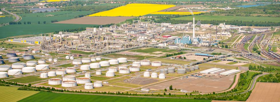 Luftbild Industrieanlage