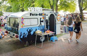Einsatz Fotobox im QEK Wohnwagen