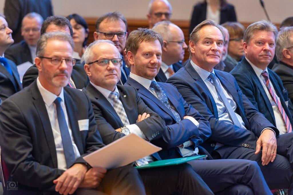 OBM Burkhard Jung und MP Michael Kretschmer