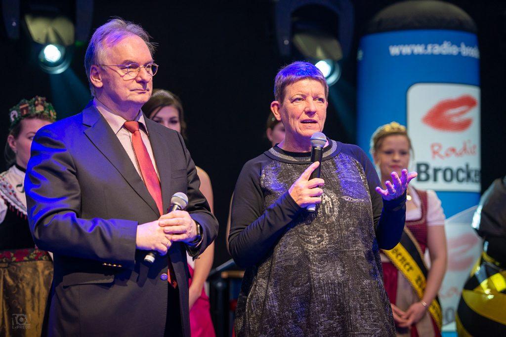 Ministerpräsident Dr. Reiner Haseloff und Landwirtschaftsministerin Prof. Claudia Dalbert auf der Internationalen Grünen Woche 2019
