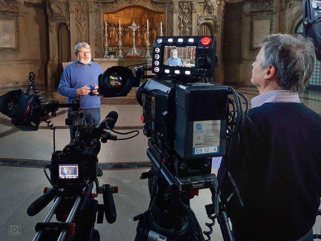 Harald Bretschneider im Interview in der Kreuzkirche