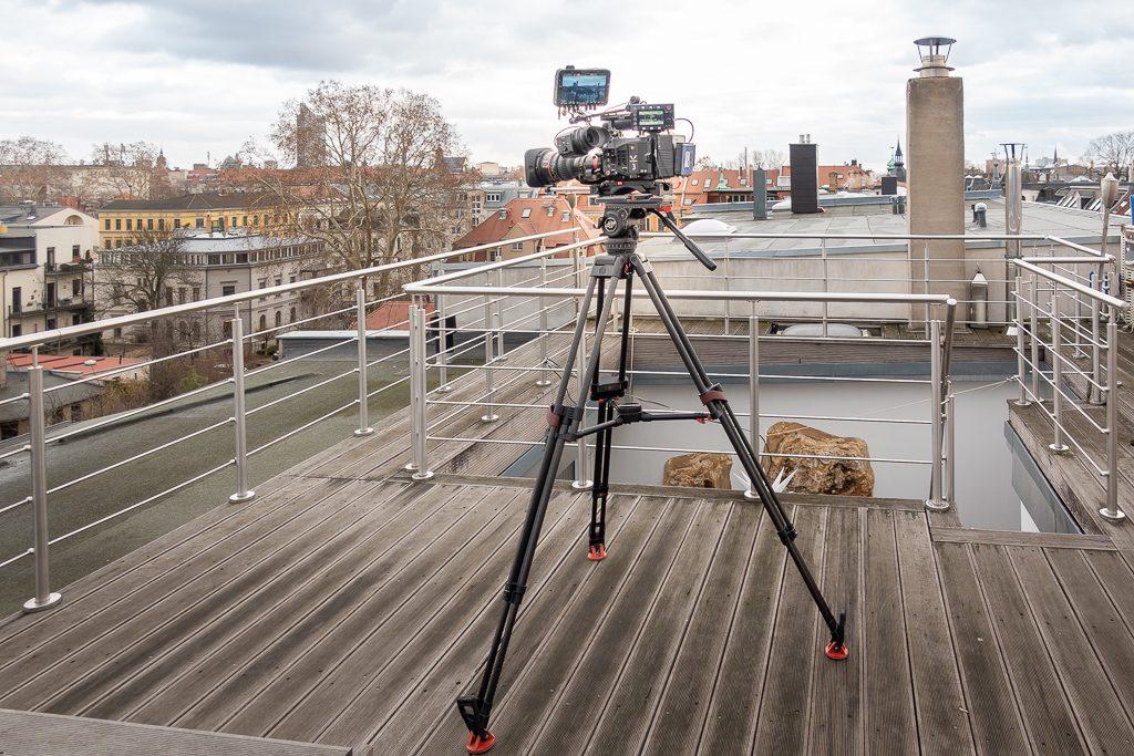 """Panasonic Varicam bei Dreharbeiten zu """"Unter Büchern"""""""