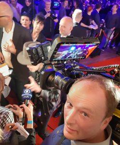 Udo Lindenberg im Westbad Leipzig mit Kameramann Tilo Weiskopf