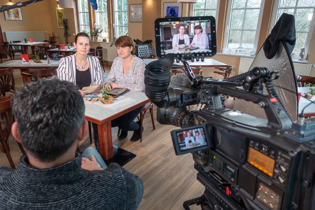 Interview in der Kaffee-Eule am Fuße des Fernsehturms Kulpenberg
