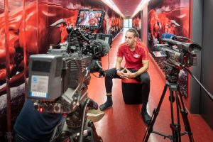 Yussuf Poulsen im Interview für die Sportschau im Ersten