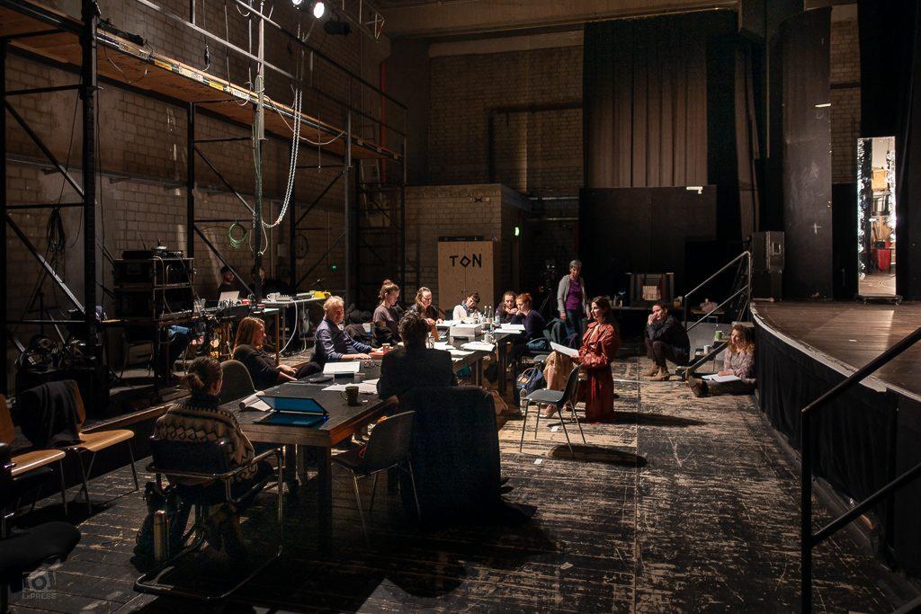 Proben zu Amphitryon mit Leander Haußmann im Thalia Theater Hamburg