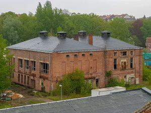 """ehemalige Schufabrik """"Banner des Friedens"""""""