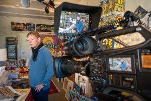 Interview mit Michael Fischer-Art in seinem Atelier in der ehemaligen Brikettfabrik Witznitz bei Borna