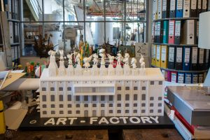 Projekt Art-Factory von Michael Fischer-Art / ehemalige Brikettfabrik Witznitz bei Borna