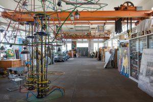 Atelier von Michael Fischer-Art in der ehemaligen Brikettfabrik Witznitz bei Borna